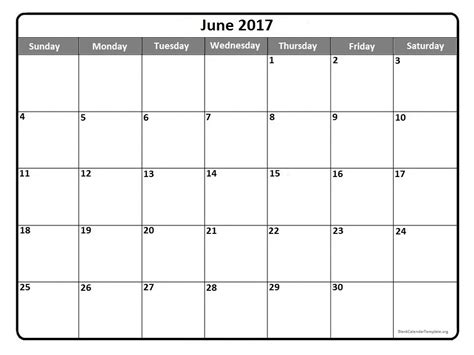 june 2017 calendar template printable calendar templates