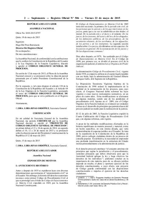 inyectando c 243 digo en codigo organico general de procesos cogep c 243 digo org