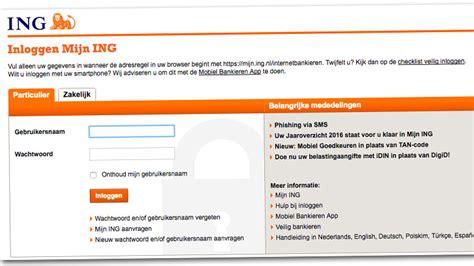 ing bank nl ingbank inloggen nl e b