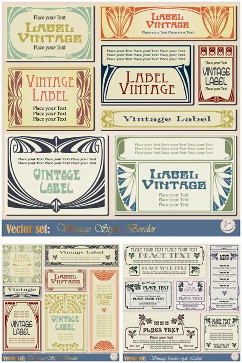 vintage label template vintage label templates vector set 2 3 sets with 22 vector