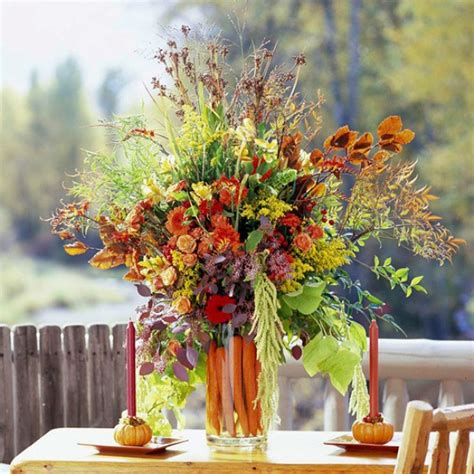 fall floral decorations thanksgiving decor in autumn colors digsdigs