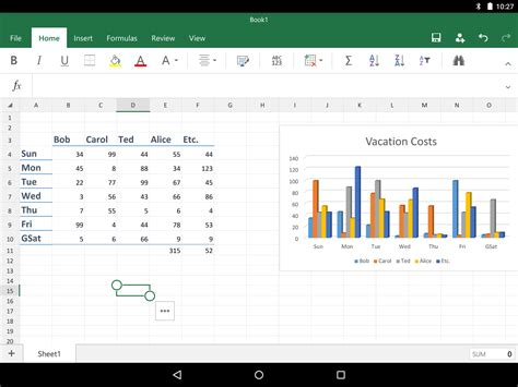 excel for android microsoft office for android tablet review