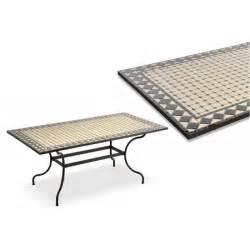 tavoli in ferro battuto e mosaico tavolo mosaico rettangolare in ferro battuto 160x90