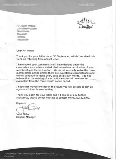 letter to cancel bally total fitness membership 18 cancellation letter template uk pictures