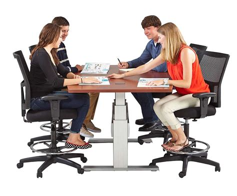 Height Adjustable Meeting Table Newheights Elegante Xt Height Adjustable Conference Table By Rightangle Products
