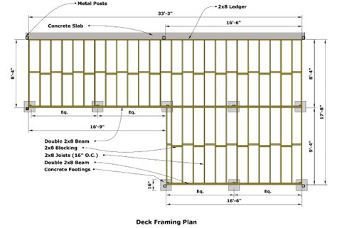 wood floor framing plan cedar deck designing and building a deck using western