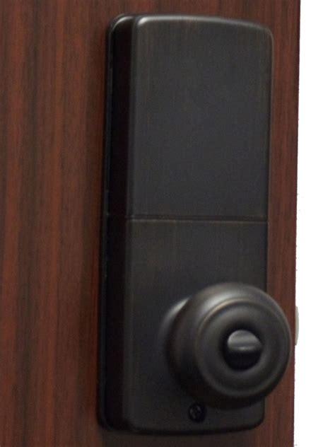 Keyless Door Knobs by Lockey E Digital Keyless Electronic Knob Door Lock Bronze