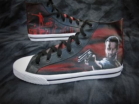 graveyard shoes walking dead rick grimes graveyard canvas high top shoes