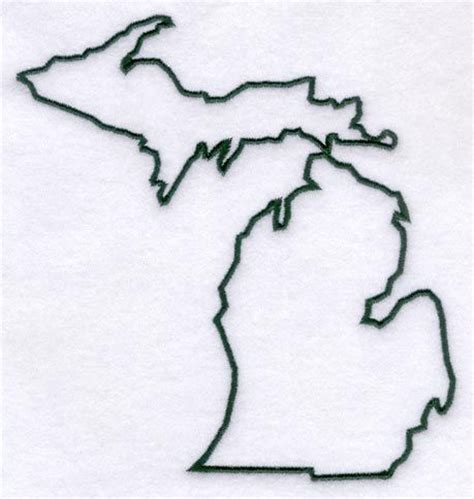 michigan outline da mitten