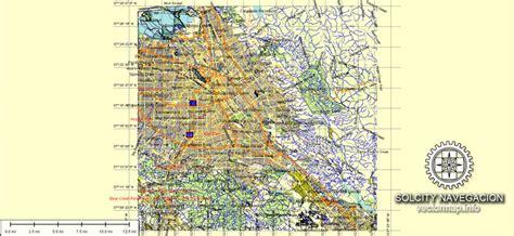 san jose ca usa map san jose printable atlas 49 parts vector map