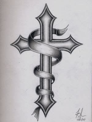 cross and scroll tattoo designs kunst tatoeages kunst tatoeages met beeld ontwerp