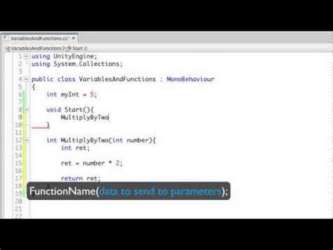 unity tutorial java 変数と関数 unity