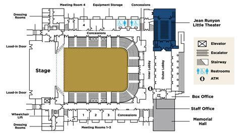 100 la convention center floor plan map of