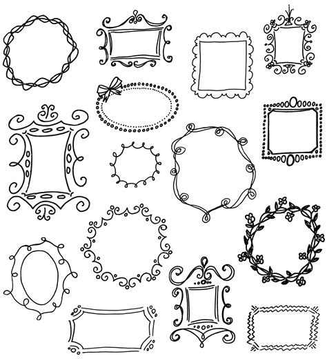 how to create doodle frames doodle frames clip pack unique by
