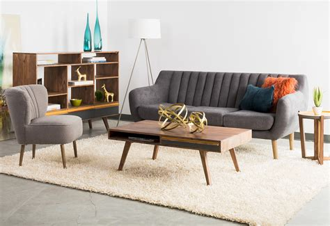 mid century modern living room furniture