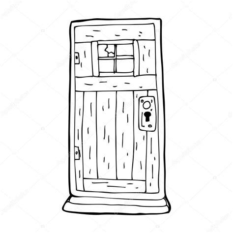 porte en bois ancien dessin anim 233 image vectorielle