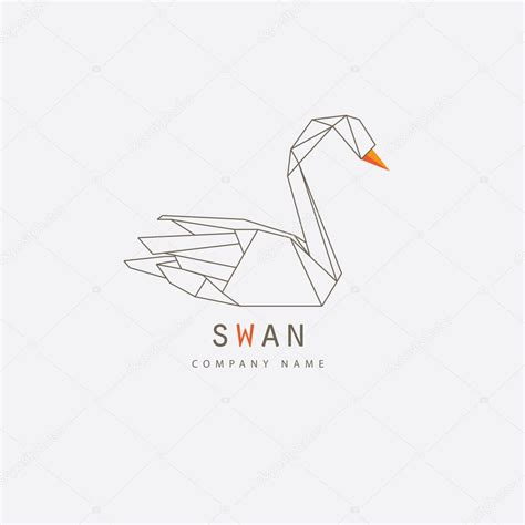 thin line logo thin line swan logo element stock vector 169 dianahlevnjak