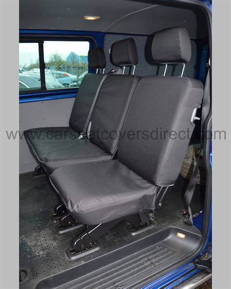 vw transporter bench seat vw t6 kombi heavy duty seat covers car seat covers direct