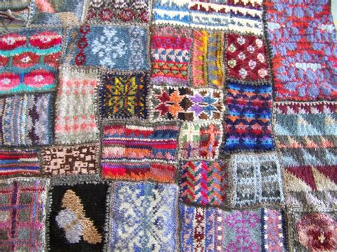 A Patchwork Blanket - cape pincushion knitted patchwork