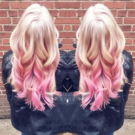 blone hair with pink streaks platinum blonde with pink highlights in love hair