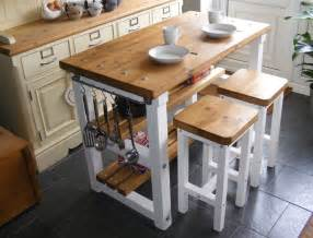 Breakfast Bar Kitchen Island Rustic Kitchen Island Breakfast Bar Work Bench Butchers Block With 2 Stools Ebay