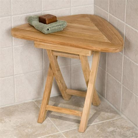 foldable shower bench solid bamboo folding shower seat bathroom