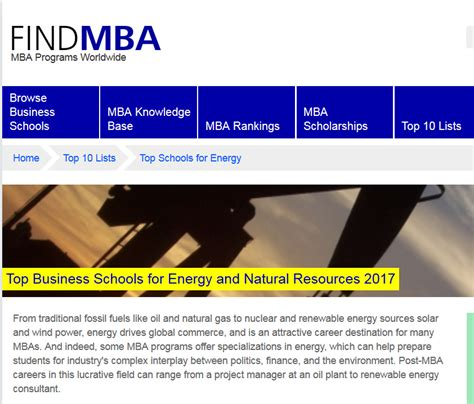 Top 10 Mba Schools 2017 by Fuqua Recognized Among Top 10 Business Schools For Energy