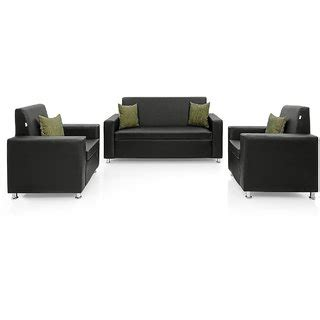 cushion sofa set 311 home sofa set 3 1 1 in black pu upholstery without