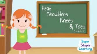 head shoulders knees amp toes learn
