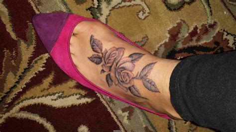 rose tattoos on foot tattoos page 83