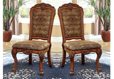 medieve antique oak finish formal 7 piece dining room medieve 2 pcs formal dining side chairs fabric floral