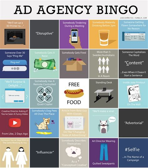 Design Agency Instagram | ad agency bingo a fun game for people in the