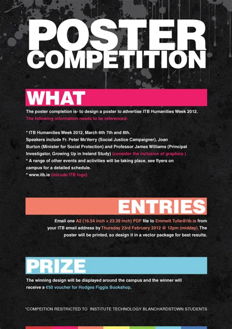 design a competition poster poster competition simple and informative itb