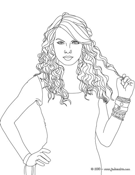 talyor swift free coloring pages