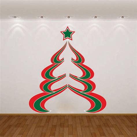 abstract christmas tree wall decal christmas murals