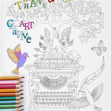 coloring page instant creative writing