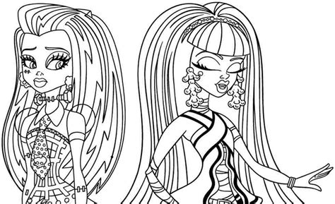 monster high coloring pages of frankie stein printable coloring pages cartoon monster high frankie