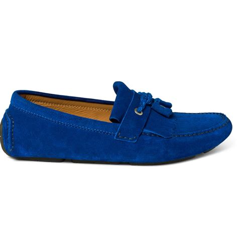 jimmy choo mens shoes jimmy choo eaton tassel driving shoe in blue for lyst