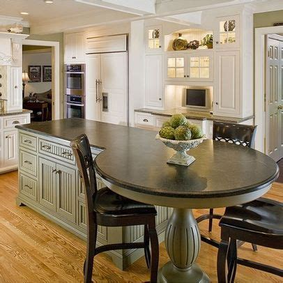 kitchen island with built in table 25 best ideas about kitchen island table on