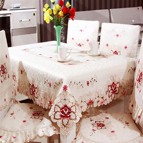 Tablecloth For Oval Dining Table Oval Square Rectangular Tablecloth Embroidered Hollow Table Runner Flag Coffee Dining