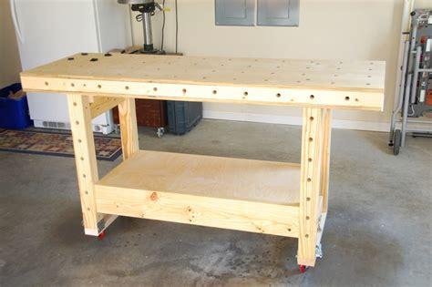 work bench casters mobile torsion box workbench by ron stewart