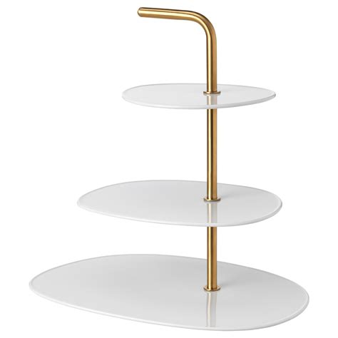 etagere ikea sommar f 214 r 196 dla serving stand three tiers white brass ikea