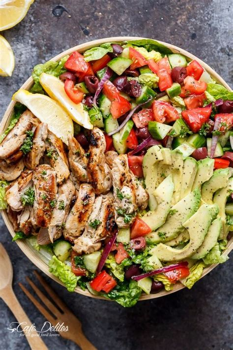 greek salad recipe with grilled lemon chicken culicurious 38 salad recipes you will want to make for dinner tonight