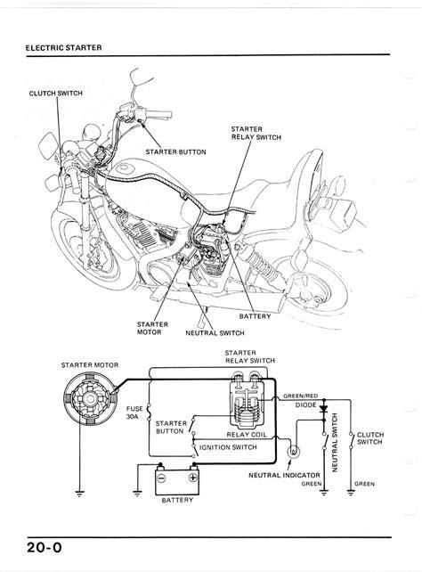 delighted vt1100c honda shadow wiring diagram contemporary
