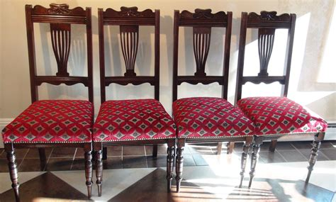 Upcycled Dining Room Chairs by 4 Antique Vintage Dining Chairs Upcycled Refinished