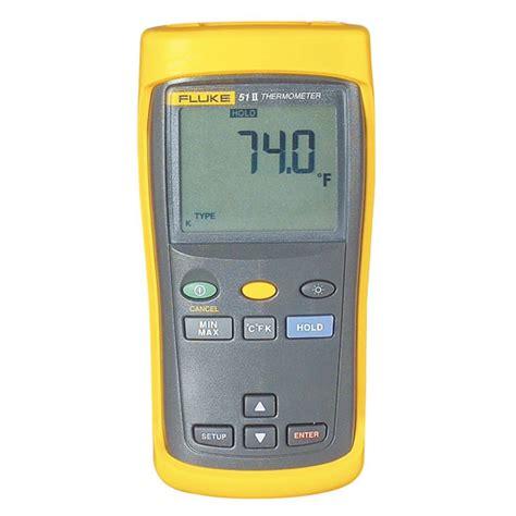 Thermometer Fluke fluke 51 ii thermometer valley instrument service