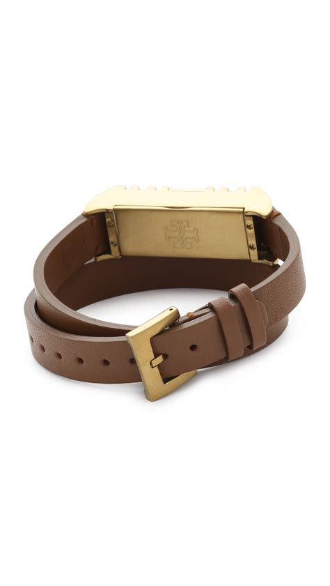 burch for fitbit leather bracelet bark aged gold in