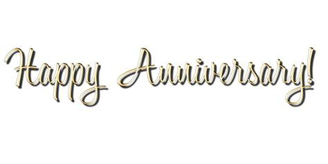 Happy Anniversary Calligraphy Gold · Free image on Pixabay