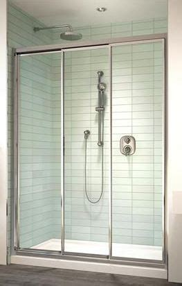 three panel shower door shower enclosures sliding shower doors