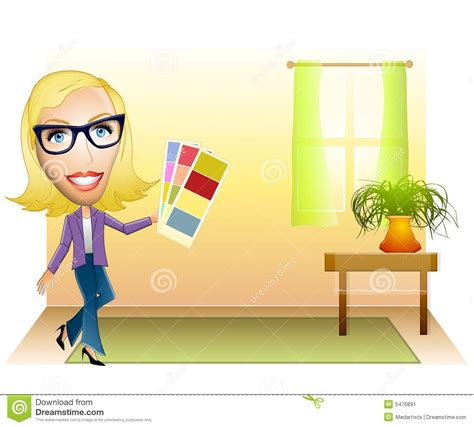 design photo cartoon interior designer color sles stock image image 5476891